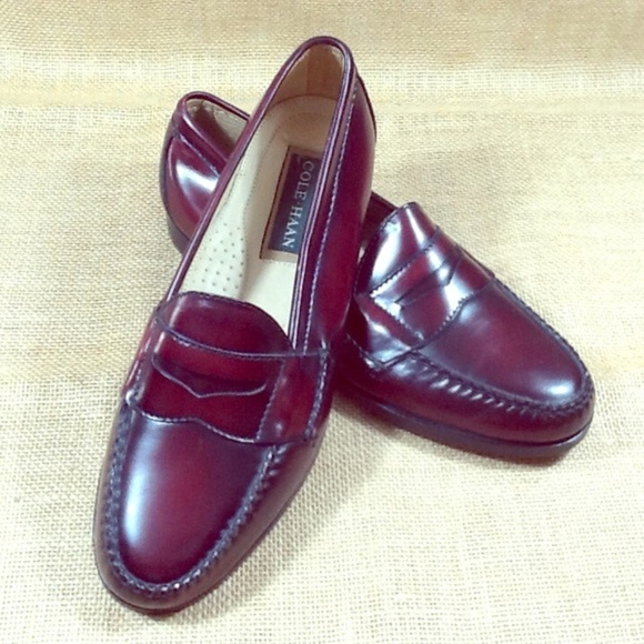 Cole Haan Shoes Burgundy Womens Loafers Size 9 Poshmark